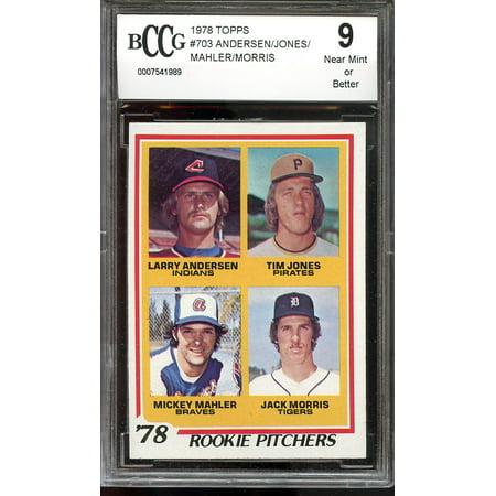 1978 Topps  703 Larry Anderson Tim Jones Mahler Jack Morris Rookie Bgs Bccg 9