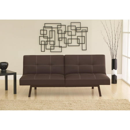 DHP Delaney Split Back Futon - Brown