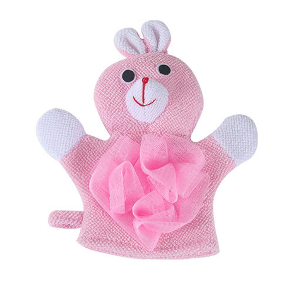 Mosunx 1 Pc Compound Cotton Children Bath Rub Gloves Shower Body Wash Puff Mesh