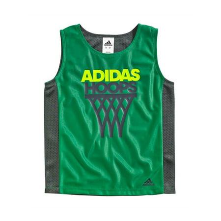 Adidas Boys Hoops Reversible Tank Top green 4 - Little Kids (4-7) ()