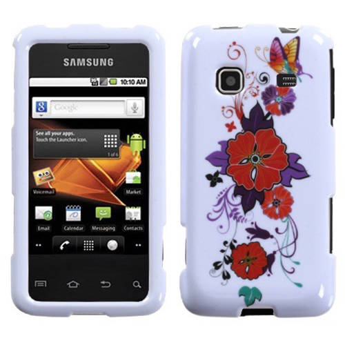 Samsung M820 Prevail MyBat Protector Case, Wisteria Butterfly Flowers
