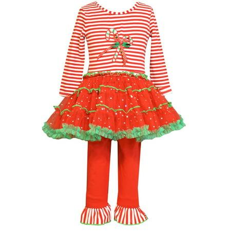 Bonnie Jean Candy Cane Tutu Legging Set - NEW! 18 - Bonnie Jean Halloween Tutu