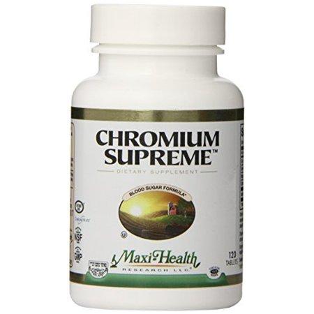 Maxi Santé chrome Polynicotinate Supreme - 200 mcg - Formule sucre dans le sang - 120 comprimés - par casher Maxi - Santé