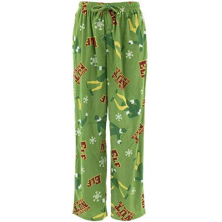 Buddy the Elf Mens Sueded Fleece Pajama Pants L