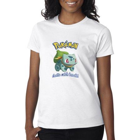 New Way 563 - Women's T-Shirt Pokemon Go Gotta Catch 'Em All Bulbasaur