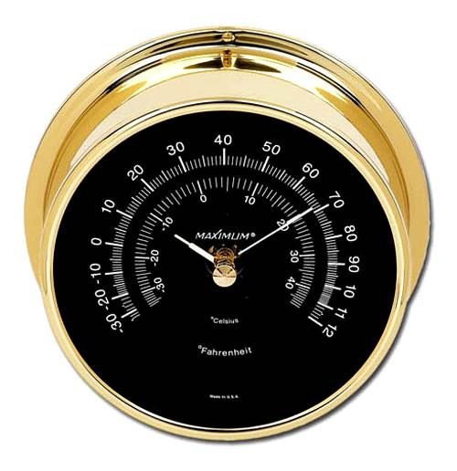 Criterion Brass & Black Thermometer