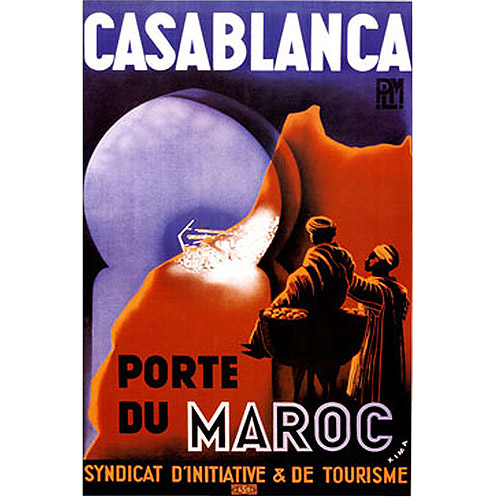 "Trademark Fine Art ""Casablanca Vintage Art"" Canvas Art"