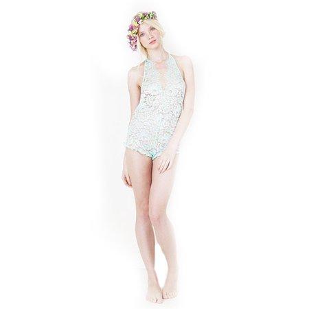 Zinke Intimates Women's Halter Lace Daisy Jumper, Large, (Daisy Lace Halter)