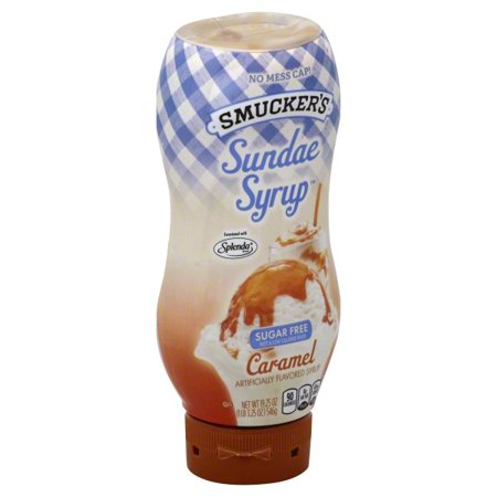 (3 Pack) Smucker's Sugar Free Caramel Flavored Syrup, 19.25oz - Caramel Sauce For Cheesecake