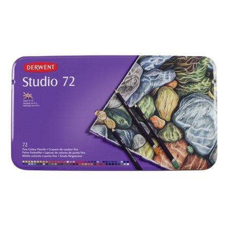 Derwent Studio Colored Pencils, Metal Tin, 72-Count (32201)
