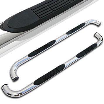 2dr Standard Cab (Spec-D Tuning SSB3-F15009RCS2-WB Ford F150 Regular Cab 2Dr Chrome SS Running Boards Side Step Nerf Bars )