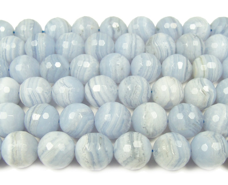 16 inch strand 8mm Blue Lace Agate Round Beads