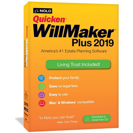 Nolo WQP19R Quicken WillMaker Plus 2019 for Window & Mac (Quicken For Xp)