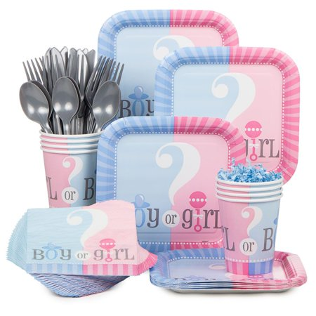 Gender Reveal Standard Kit (Serves 20) - Baby Shower Party - Baby Gender Reveal Party Ideas