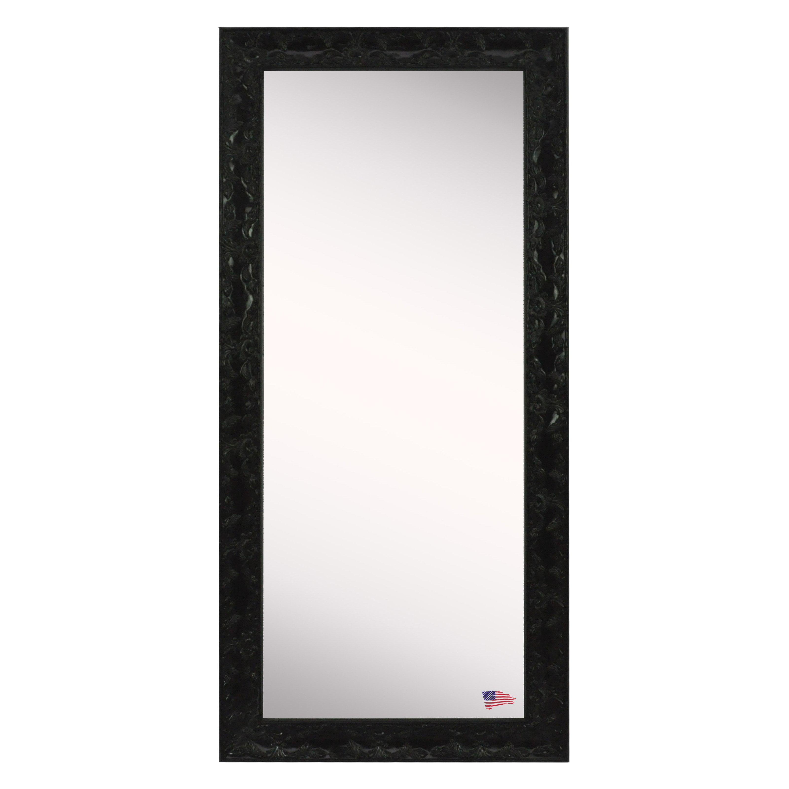 American Made Rayne Endicott Floor Mirror Black by Rayne Mirrors