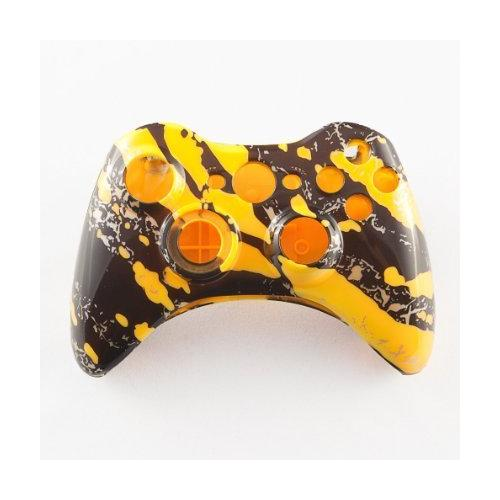 Yellow Marble Custom Controller Shell for XBOX 360