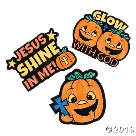 Sunday School Craft (1 X Color Your Own Christian Pumpkin Fuzzy Magnets - Sunday School & Crafts for)