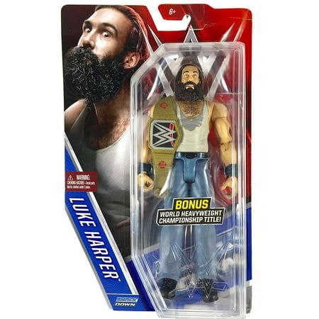 Luke Harper WWE Basic Series 60 Chase with Title Belt, WWE Basic Series 60 By Mattel