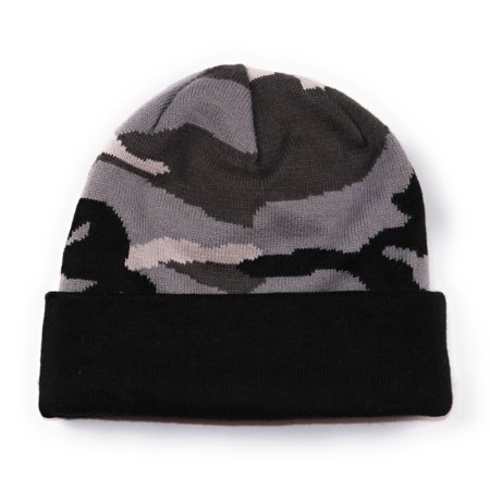 CSG Champs Sports Gear Reversible Urban Camo Beanie Adult One Size Grey Black