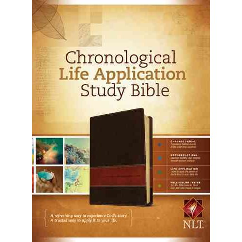 Chronological Life Application Study Bible: New Living Translation Brown / Tan TuTone LeatherLike