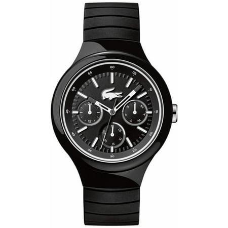 Men's Lacoste Borneo Black And White Silicone Strap Watch 2010870