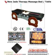 Massage Table FAR Infrared Jade Heat Therapy - Full Body 9 Heated Jade Rollers to 160F - Infrared Carbon Fiber Panels - 110v Electric, 6.5 Ft. Bed