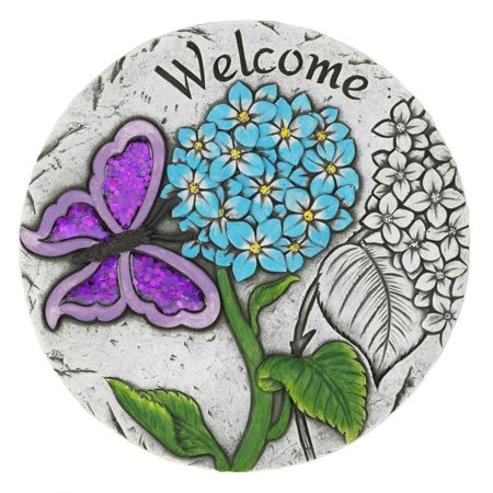 Tom & Co. WELCOME BUTTERFLY GARDEN STEPPING STONE By Tom Co