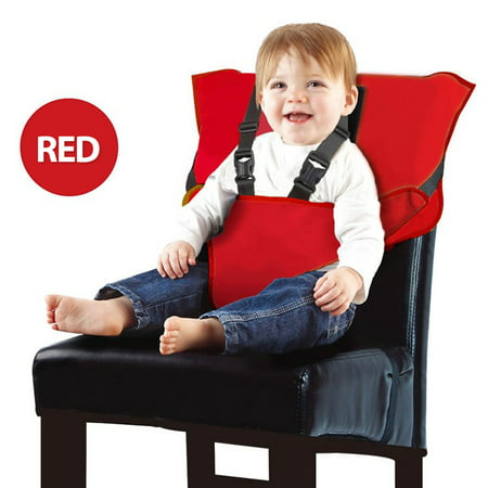 Baby Travel High Chair Portable High Chair Infant Baby Booster Safety Seat Dining Baby Portable Baby Chairs Harness Toddler Camping Chair Baby Beach Chair Feeding Chair Sitting Up Chair-Red
