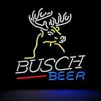 """Desung Brand New Busch Light Deer Neon Sign Handcrafted Real Glass Beer Bar Pub Man Cave Sports Neon Light 20""""x 16"""" WM09"""