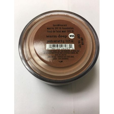 Deep Matte (Bare Minerals Matte Foundation SPF 15 Warm Deep W55 0.21 oz/ 6g)