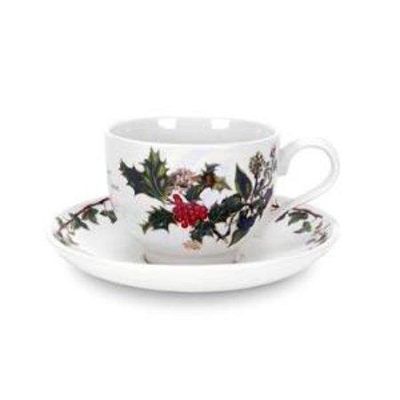 Portmeirion Holly & Ivy Tea Cup and Saucer - Portmeirion Holly And Ivy