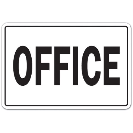 Office novelty sticker | Indoor/Outdoor | Funny Home Décor for Garages, Living Rooms, Bedroom, Offices | SignMission Workplace Job Building Business Parking Gift Decal Wall Plaque Decoration
