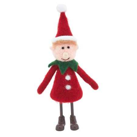 Holiday Handmade Decorations Christmas Figurines - Set of 2 (Red Elf) - Walmart.com