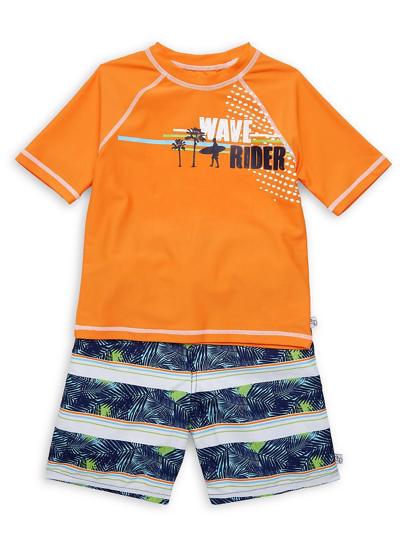 Little Boy's 2-Piece Wave Rider Swim Set