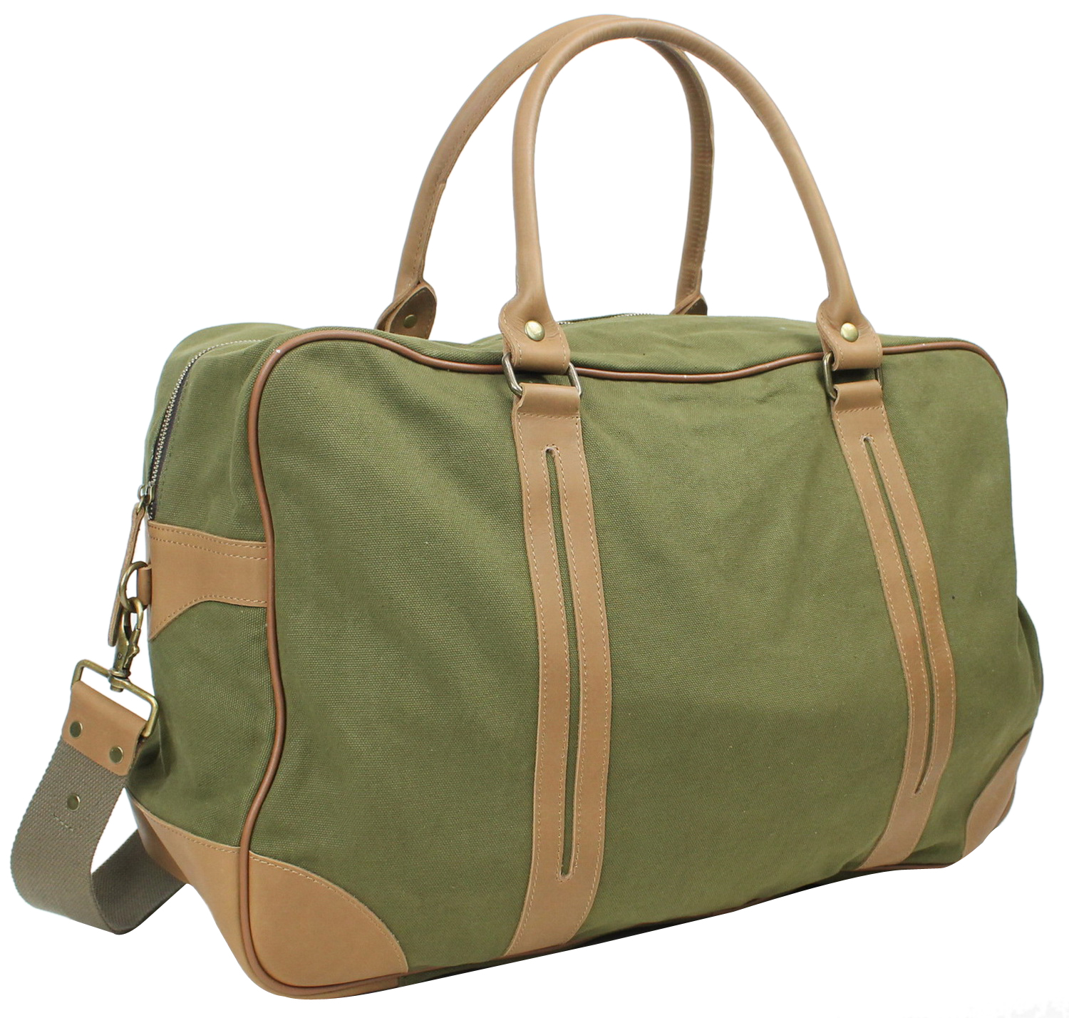 Vagabond Traveler Classic Large Canvas Duffle Travel Bag C77.GRN by