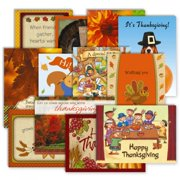 Thanksgiving Greeting Cards Value Pack - Set of 12 (12 Designs)