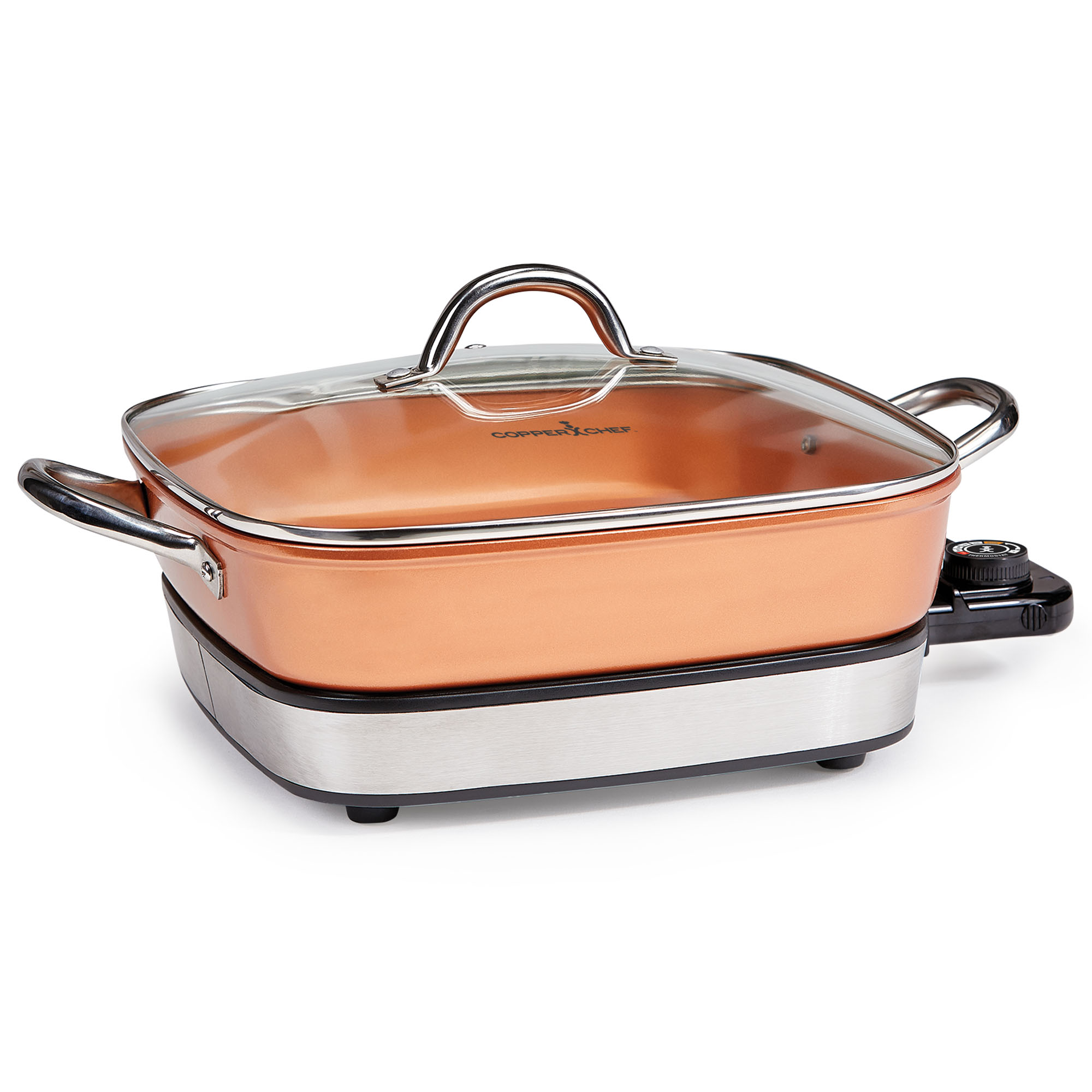 "Copper Chef 12"" Removable Electric Skillet"