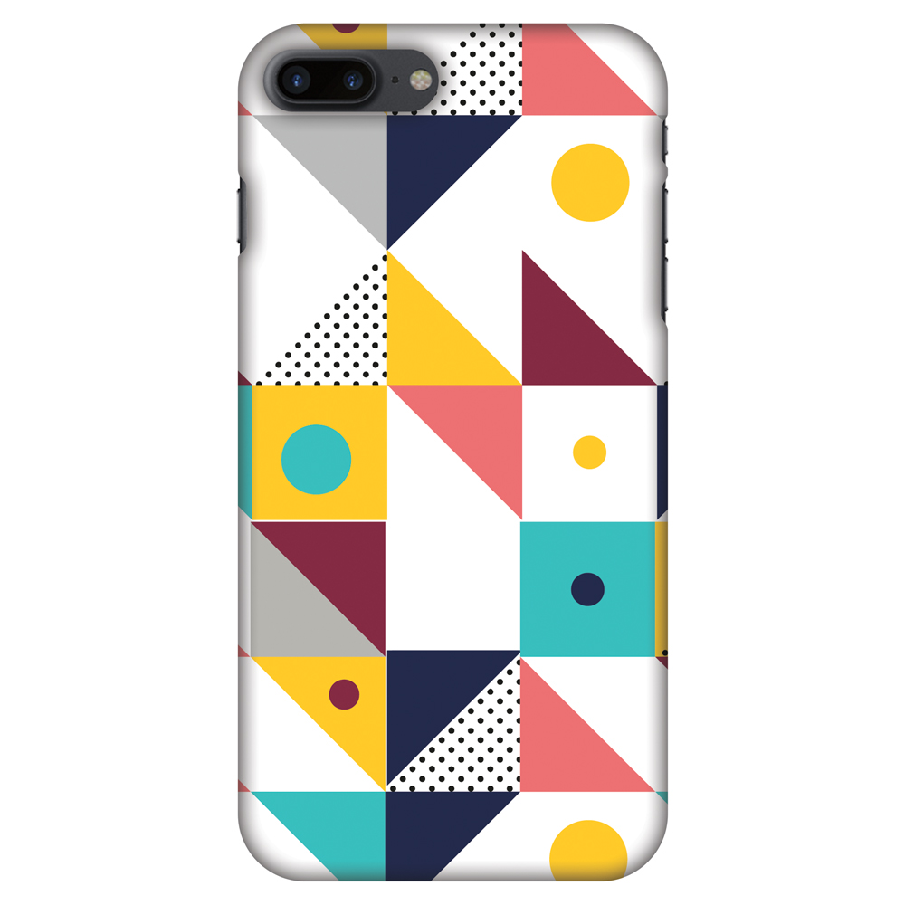 iPhone 8 Plus Case - Chevron Chic 2, Hard Plastic Back Cover. Slim Profile Cute Printed Designer Snap on Case with Screen Cleaning Kit
