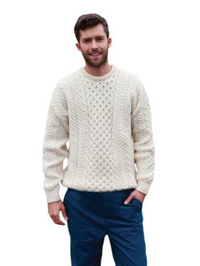 554ed11028c01c Product Image Men's Irish Traditional Aran Wool Pullover Sweater. Product  TitleCarraig DonnMen's ...
