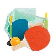 Mini Table Tennis Game Set - Party Favors - 4 Pieces