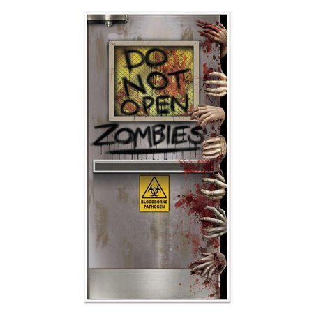 Club Pack of 12 Halloween Themed Zombies Lab Door Cover Party Decorations 5'
