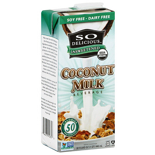 So Delicious Unsweetened Coconut Milk, 32 oz (Pack of 12)