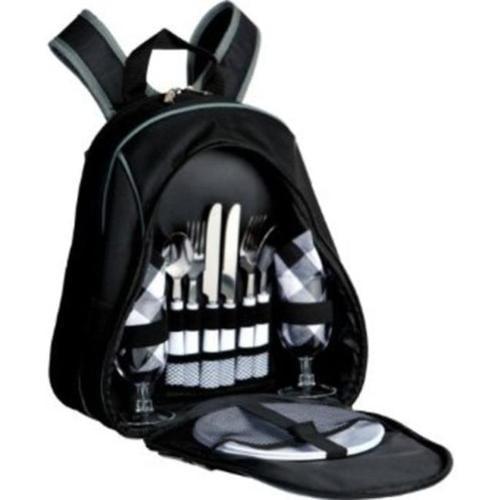 Picnic Plus PS2-216BL Fairmont 2 person Picnic Backpack - Black