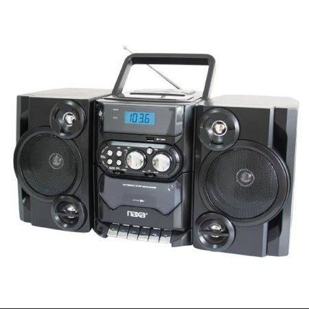 Naxa Npb-428 Mini Hi-fi System Black Cd Player, Cassette Recorder 1 Cassette[s] Fm, Am Cd-da, Mp3 Usb Remote... by