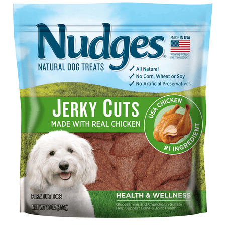 Nudges Health and Wellness Chicken Jerky Dog Treats, 16 Oz