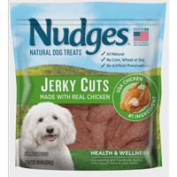 Nudges Health and Wellness Chicken Jerky Dog Treats (Various Sizes)