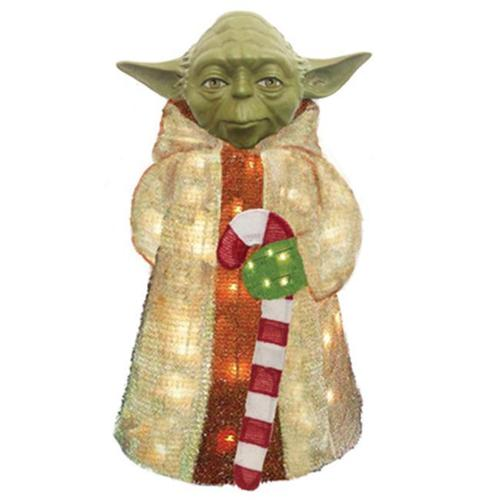 "Christmas Lawn Decoration, Lighted Yoda, 28"", Kurt, ZTSW9TV9143"