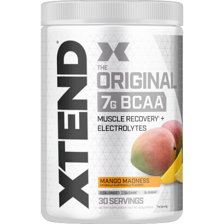 Scivation Xtend BCAA Powder, Branched Chain Amino Acids, 7g BCAAs, Mango Madness, 30 Servings (Myology Bcaa)