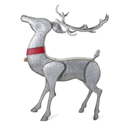The Holiday Aisle Christmas Standing Galvanized Reindeer