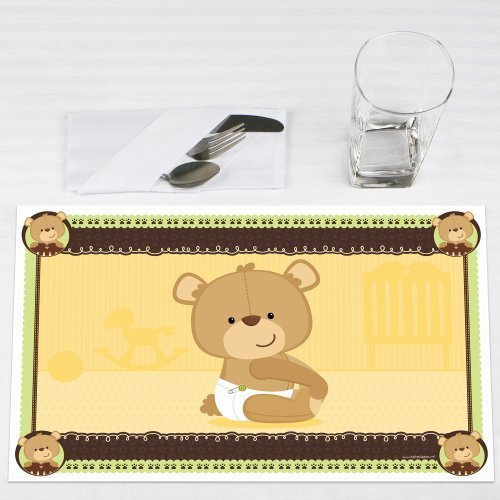 Baby Teddy Bear Party Placemats Set of 12 by Big Dot of Happiness, LLC